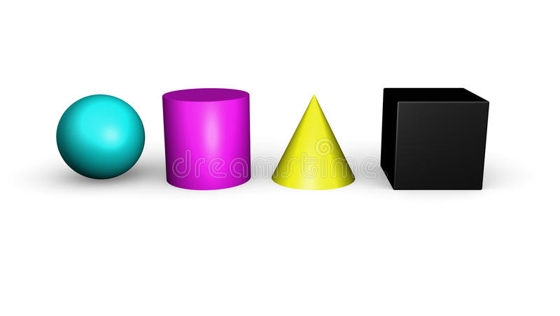 CMYK Geometric shapes