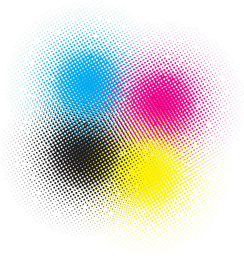 Cmyk halftone royalty free illustration