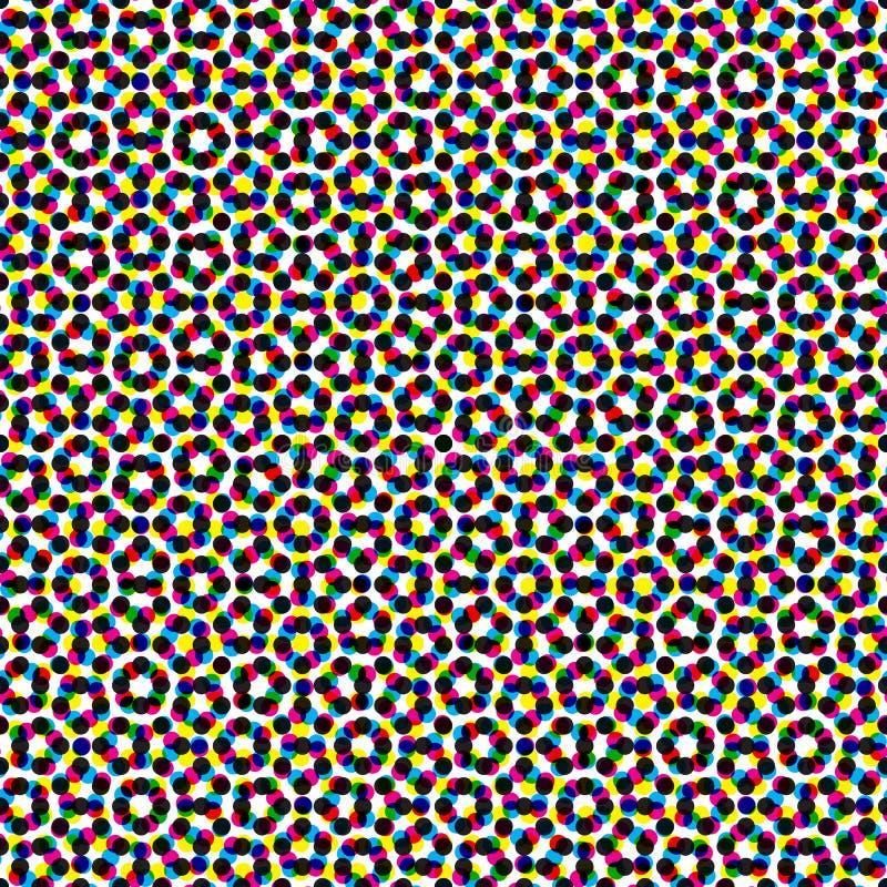 cmyk halftone seamless pattern stock vector illustration of