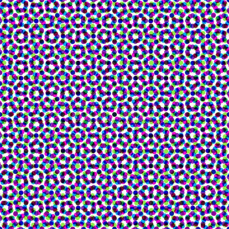 CMYK halftone seamless pattern. vector illustration