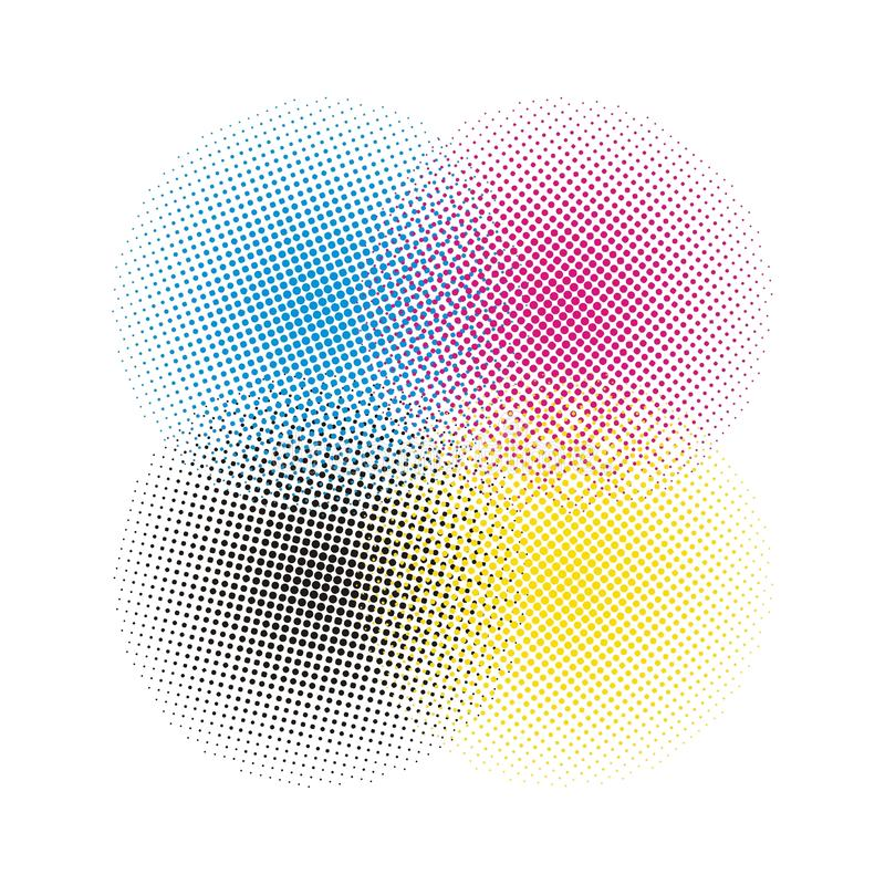 CMYK halftone vector background. Halftone background(vector design element stock illustration