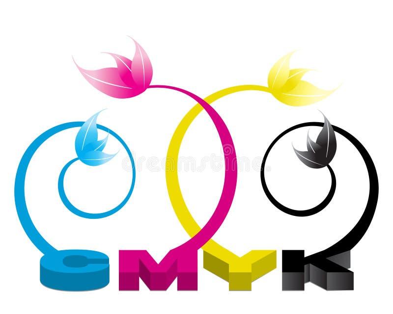 CMYK Illustratie 01 vector illustratie