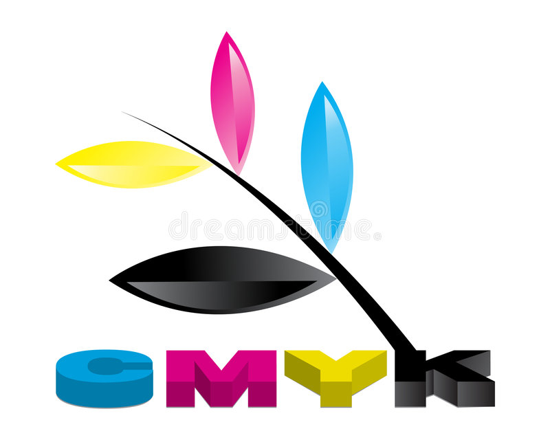 CMYK Illustratie 03 stock illustratie