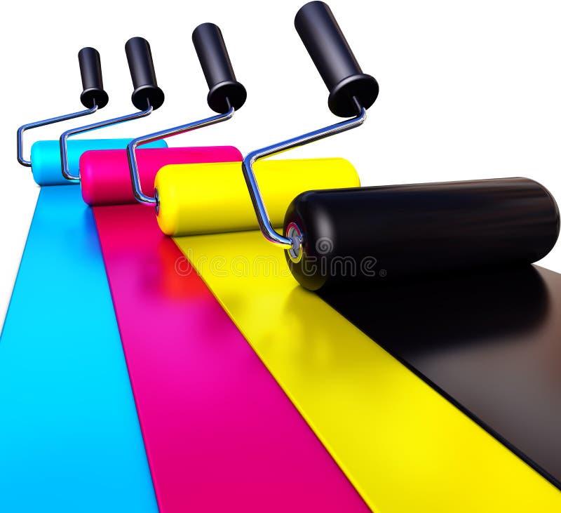 CMYK-kleur royalty-vrije illustratie