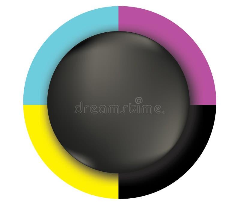 CMYK-Kleurengrafiek vector illustratie