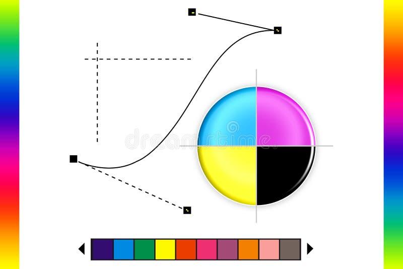 CMYK kolor ilustracji