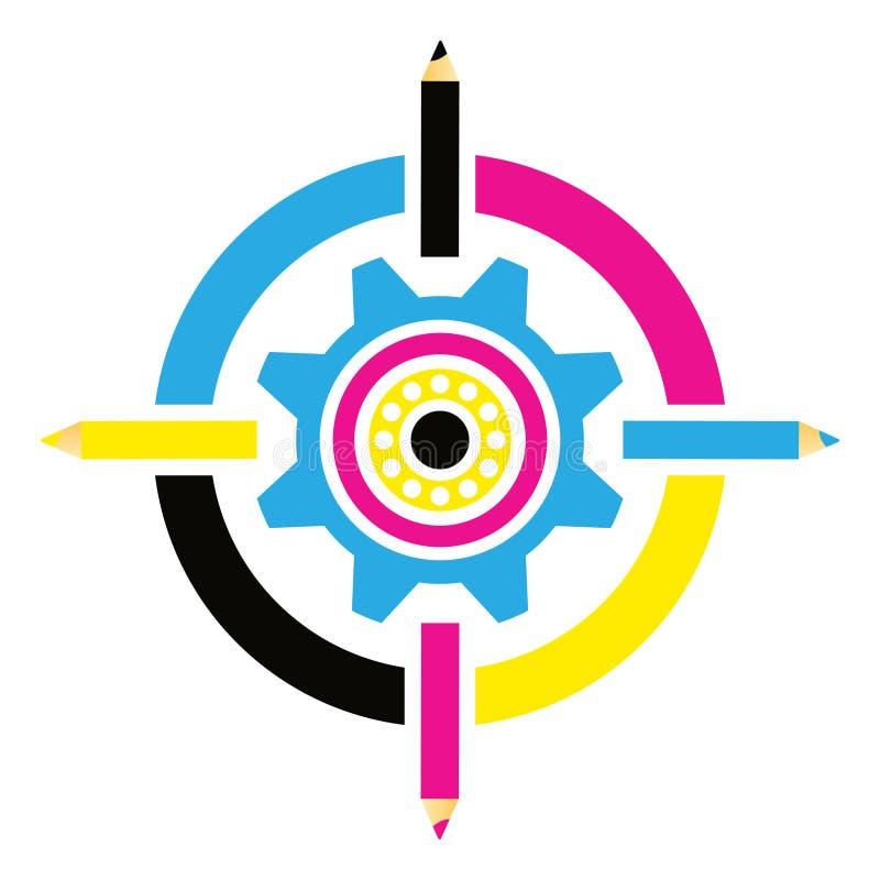Cmyk logo royalty ilustracja