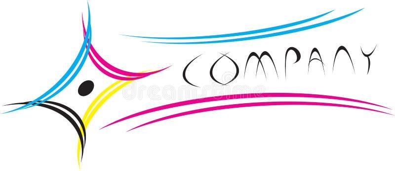 cmyk logo ilustracja wektor