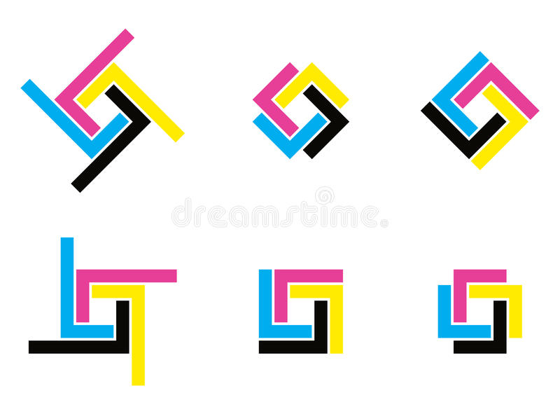 Cmyk logo stock illustration