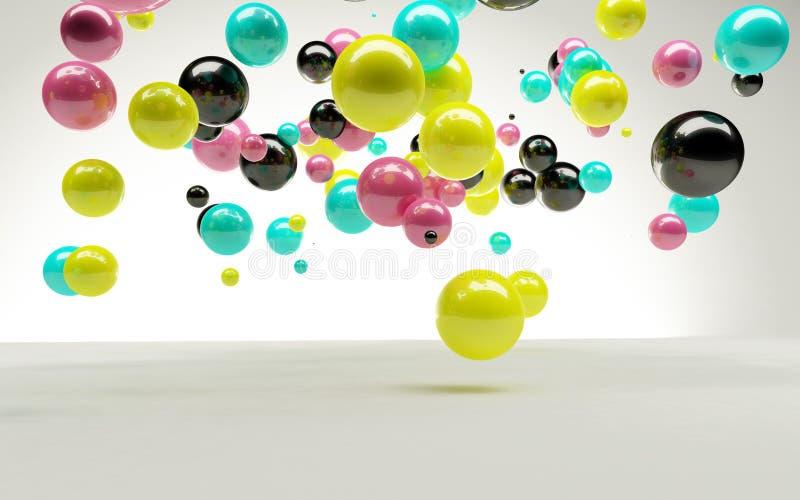 CMYK Luftblasen stock abbildung