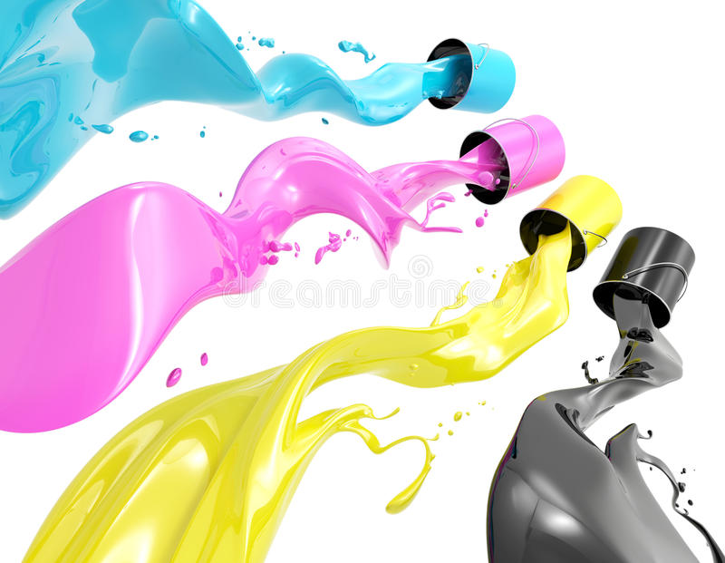 Download CMYK Paint stock illustration. Image of form, colored - 18298295