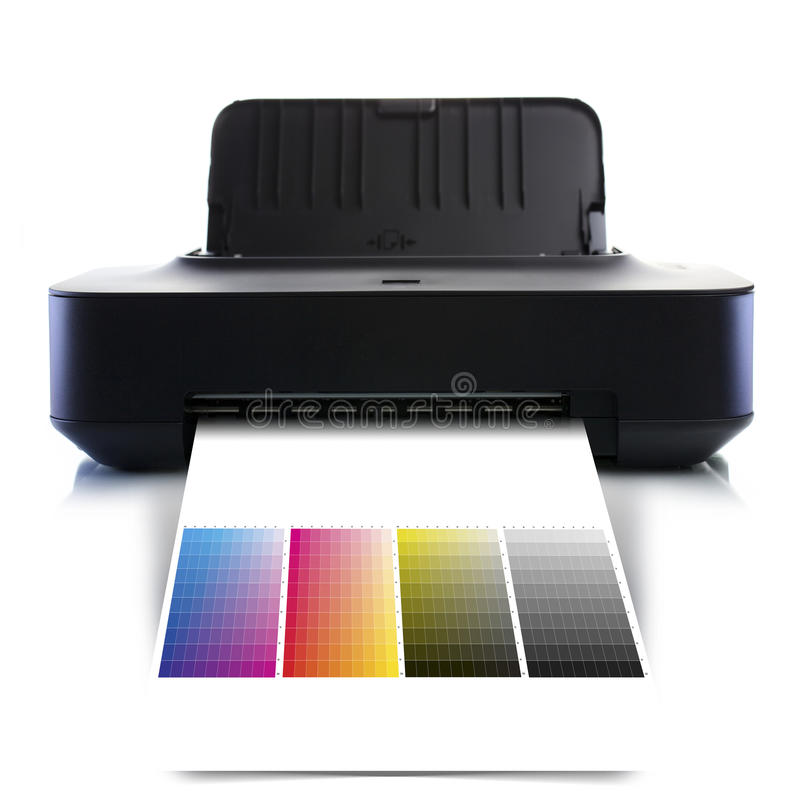 CMYK printer royalty free stock images