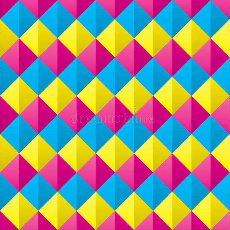 Cmyk recouvert sans couture Diamond Shapes Pattern illustration de vecteur