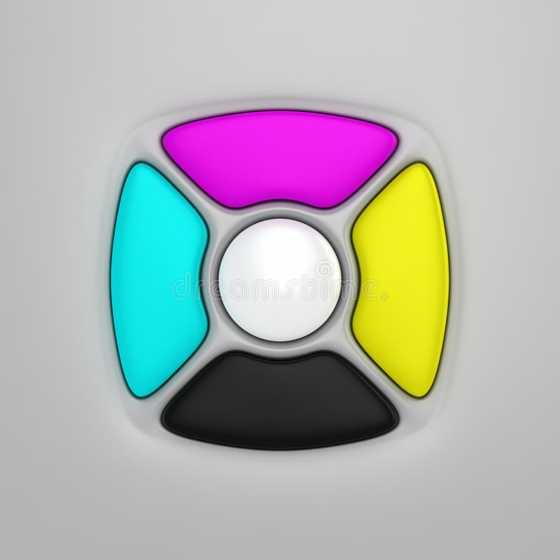 Download CMYK Remote Control Buttons Stock Illustration - Illustration: 28746068
