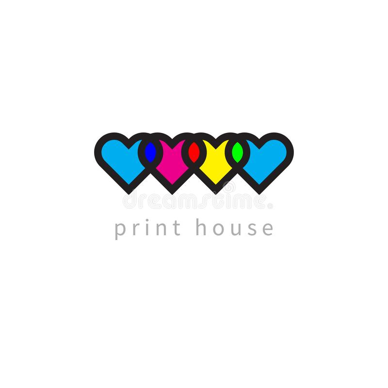 Cmyk and rgb color model royalty free illustration