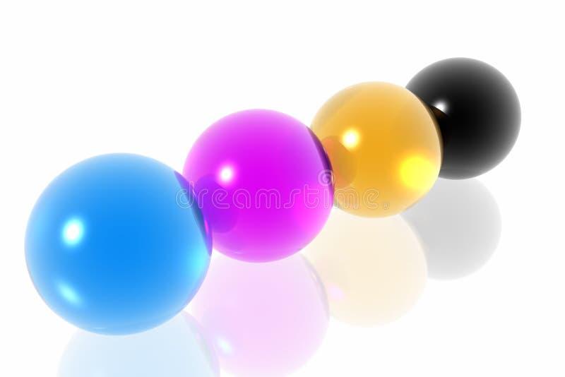 Download CMYK spheres stock illustration. Illustration of blue - 4415824
