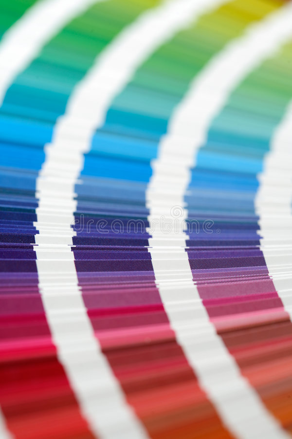 CMYK Swatches. CMYK printing color swatches stock photo