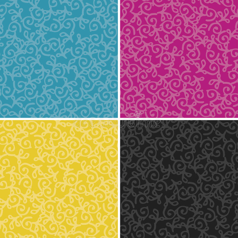 CMYK swirl pattern stock illustration