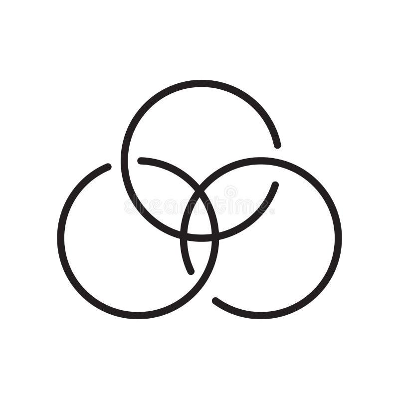 Cmyk symbolsvektor som isoleras på vit bakgrund, Cmyk tecken, linje stock illustrationer
