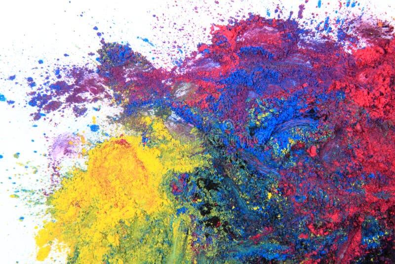Cmyk toner powder (cyan, magenta, yellow, black). As nice color background royalty free stock photography