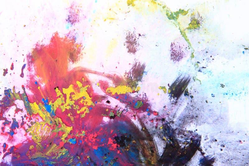 Cmyk toner powder (cyan, magenta, yellow, black). As nice color background stock images