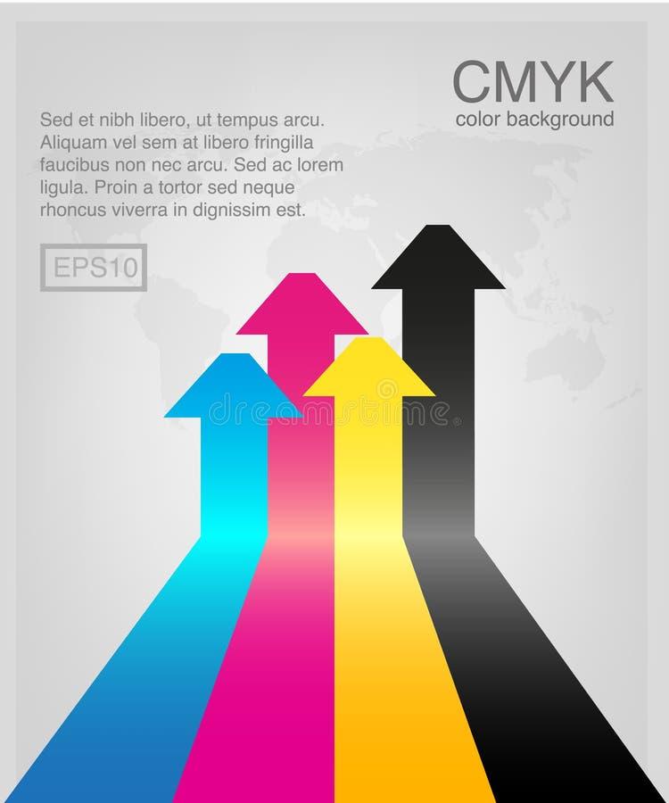 CMYK-vector stock illustratie