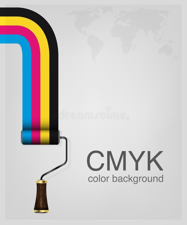 CMYK-vector royalty-vrije illustratie
