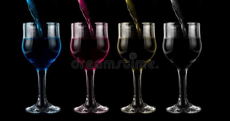 Cmyk wine royalty free stock photography
