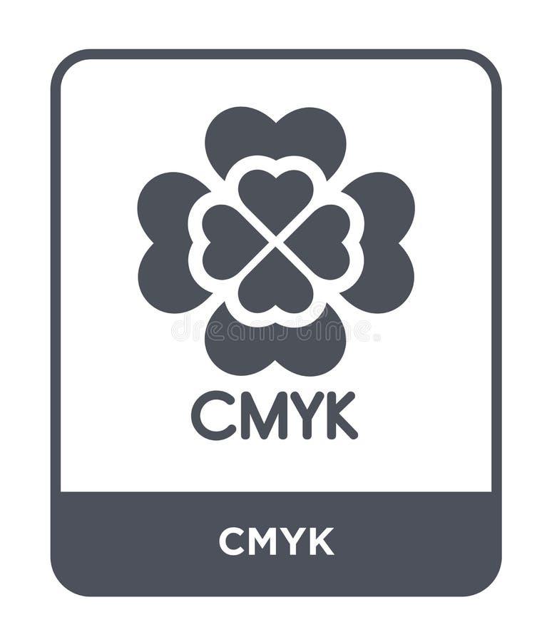 cmyksymbol i moderiktig designstil cmyksymbol som isoleras på vit bakgrund enkelt och modernt plant symbol för cmykvektorsymbol f royaltyfri illustrationer