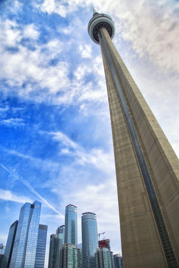 CN塔在多伦多,加拿大 库存图片