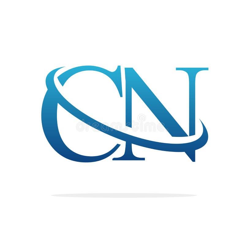 CN het Creatieve vectorart. van het embleemontwerp royalty-vrije illustratie