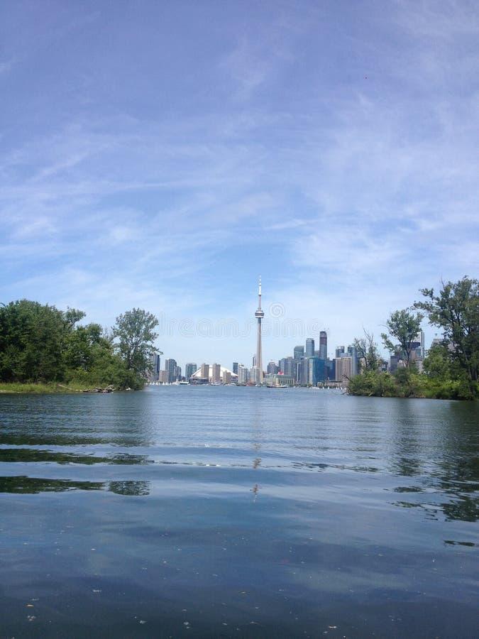 CN of toronto, lake of toronto. Toronto, Canada. Toronto island on summer. Lake of toronto, north america stock images