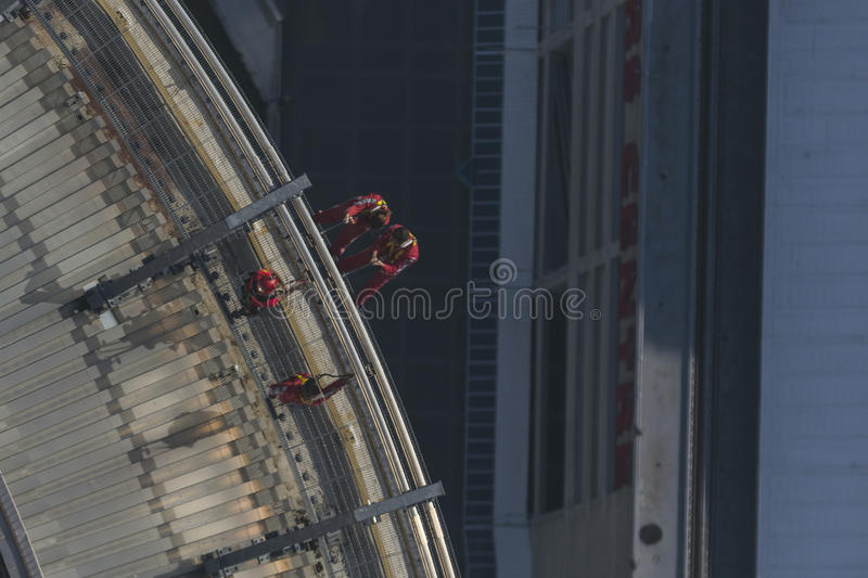 CN Tower EdgeWalk. Toronto, Ontario, Canada stock image