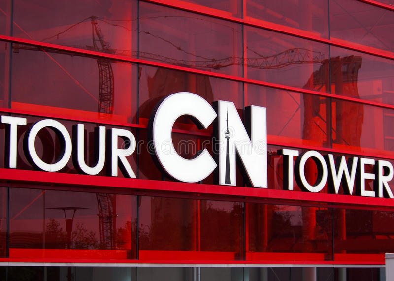 Cn Tower Entrance Toronto stock images