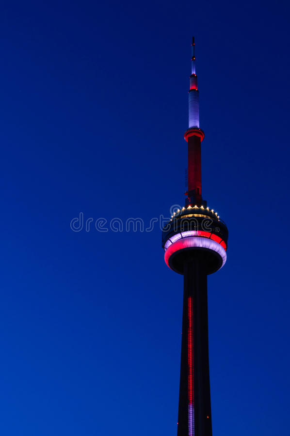 CN Tower by night. Toronto, Ontario, Canada royalty free stock photos