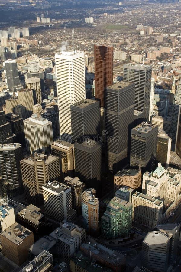 Cn van Toronto de torenmening van de binnenstad stock foto