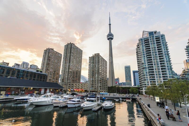 CN van Toronto Toren stock afbeeldingen