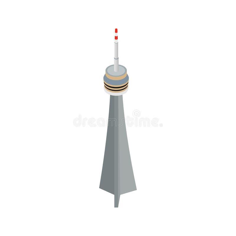 CN wierza, Toronto ikona w isometric 3d stylu ilustracji