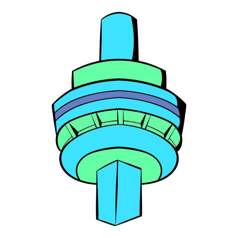 CN wierza w Toronto ikony kreskówce ilustracji