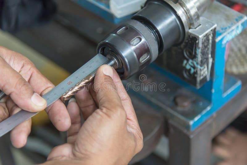 CNC工具长度设置 图库摄影