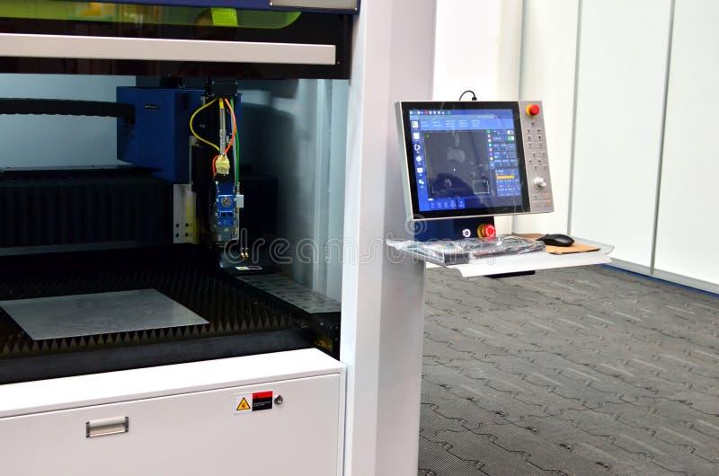 CNC άλεσης πίνακας ελέγχου μηχανών με την επίδειξη στοκ εικόνα με δικαίωμα ελεύθερης χρήσης