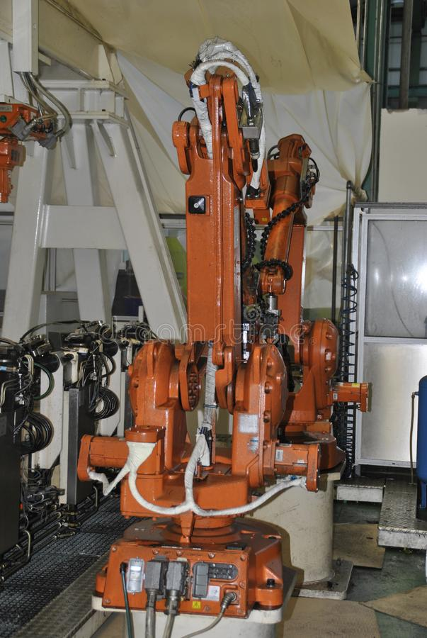 CNC βιομηχανικό ρομπότ στοκ εικόνες με δικαίωμα ελεύθερης χρήσης