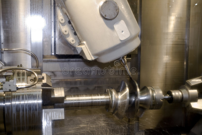 cnc εργαλειομηχανή στοκ εικόνα με δικαίωμα ελεύθερης χρήσης