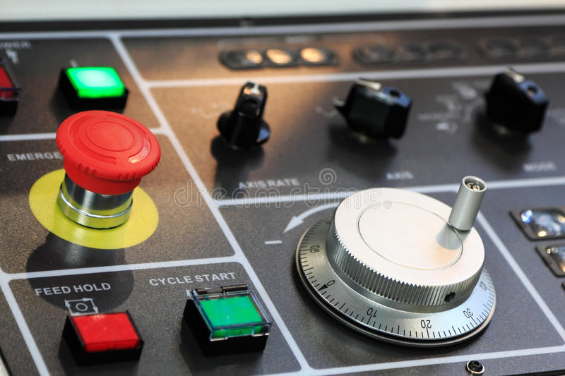 CNC control panel stock photography