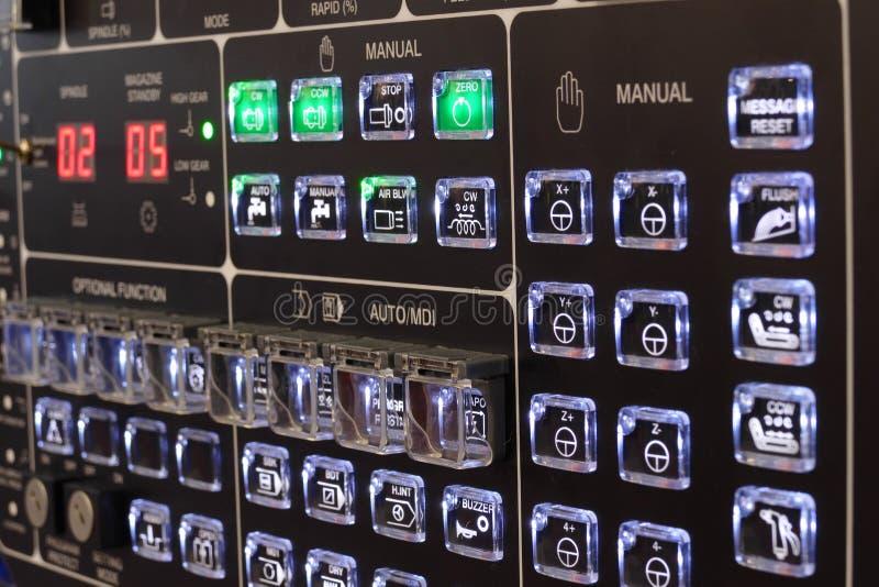 CNC controlebord stock afbeelding