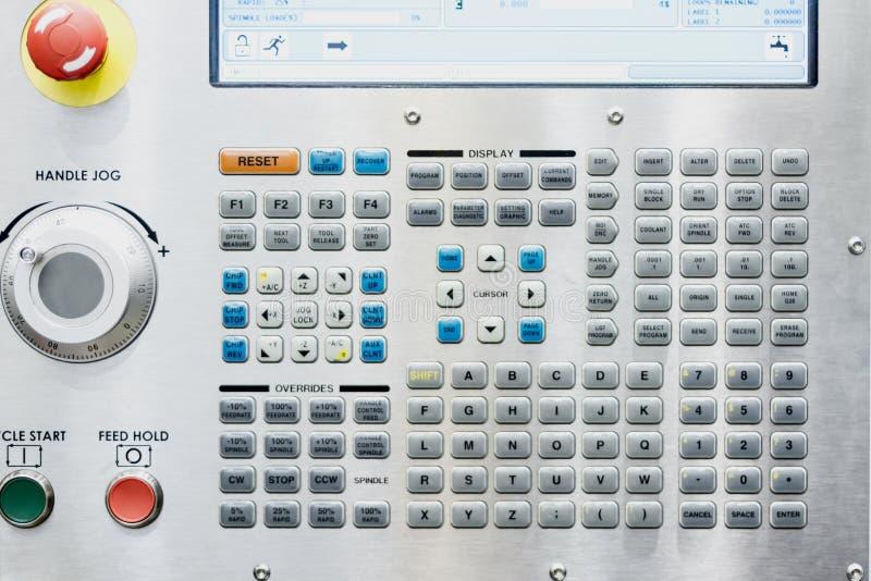 CNC del panel de control  foto de archivo