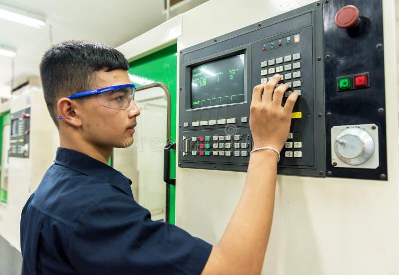CNC exploitant stock foto's