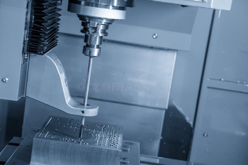 The CNC gun drill machine drilling deep hole . royalty free stock photo