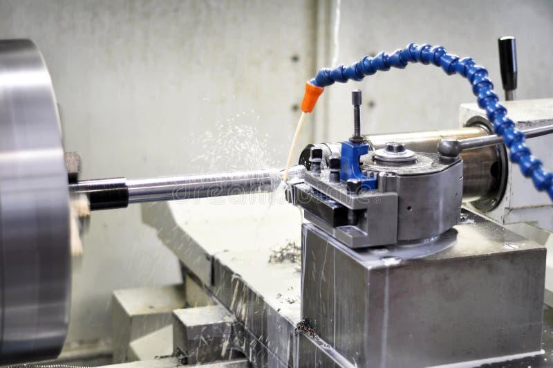 CNC het draaien machine royalty-vrije stock fotografie