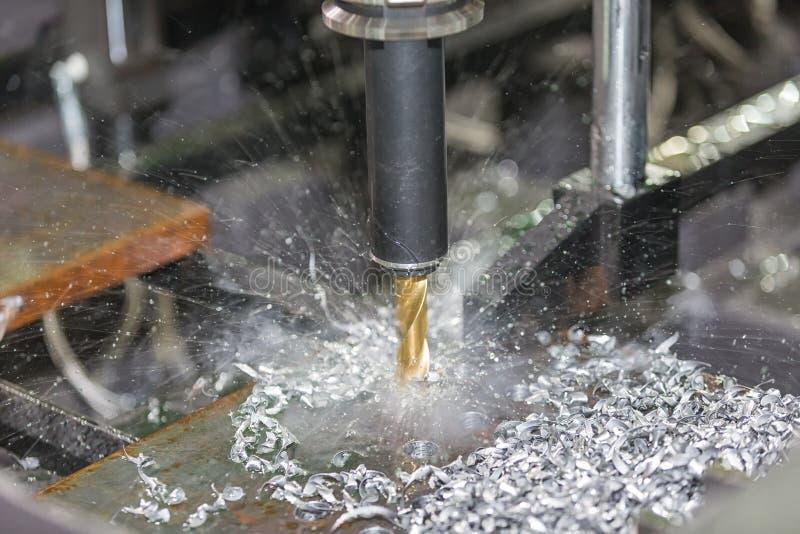 CNC het machinaal bewerken centrum scherpe vorm royalty-vrije stock afbeelding
